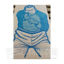 BT-1 Blue Paper Targets - Drawn Man with Revolver - 100 Count