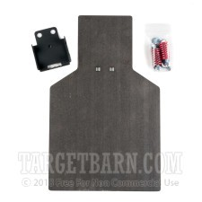 Steel Target With Hardware - IPSC Torso - Handgun