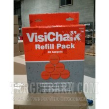 VisiChalk 2.5 Inch Target Orange Refill Pack - Breakable Chalk - Champion - 48 Count