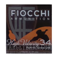 "Fiocchi High Velocity 12 Gauge Ammunition - 25 Rounds of 2-3/4"" 1-1/4 oz. #7.5 Shot"