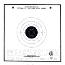 TQ-6 Paper Targets - 25 Ft Slow Fire Pistol - 100 Count