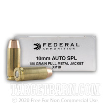 Federal 10mm Auto Ammunition - 50 Rounds of 180 Grain FMJ