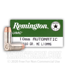 Remington UMC 10mm Auto Ammunition - 500 Rounds of 180 Grain MC