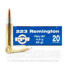 Prvi Partizan 223 Remington Ammunition - 200 Rounds of 62 Grain FMJ BT