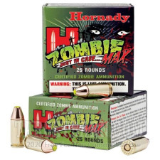 Hornady Zombie 9mm Luger Ammunition - 250 Rounds of 115 Grain Z-Max