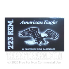 Federal American Eagle 223 Remington Ammunition - 20 Rounds of 55 Grain FMJ