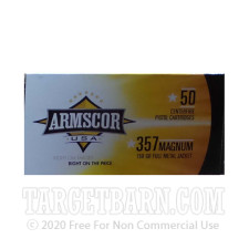 Armscor USA 357 Magnum Ammunition - 50 Rounds of 158 Grain FMJ