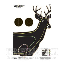 VisiColor Practice Deer Target - Multi-Color Reactive Anatomy - Champion - 10 Count