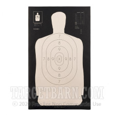 B-34 REV Paper Targets - 25 Yd Police Silhouette (Reversed) - 100 Count