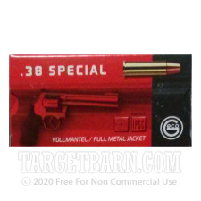 GECO 38 Special Ammunition - 50 Rounds of 158 Grain FMJ