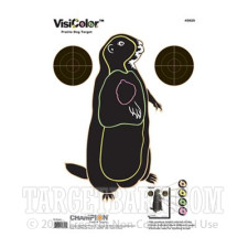 VisiColor Practice Prairie Dog Target - Multi-Color Reactive Anatomy - Champion - 10 Count