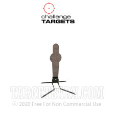 Steel Target With Stand - Pivoting Popper - Handgun & Rifle