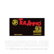 Tula 223 Remington Ammunition - 100 Rounds of 55 Grain HP
