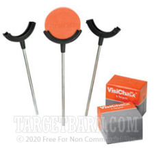 VisiChalk Single Target Holders with 12 Chalk Targets - Flexible Target Stands - Champion - 3 Holders