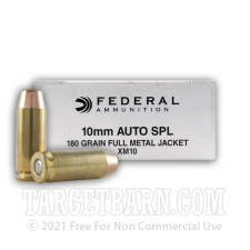 Federal 10mm Auto Ammunition - 1000 Rounds of 180 Grain FMJ