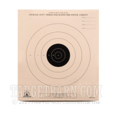 B-3 Paper Targets - 50 Ft Timed & Rapid Fire Pistol - 100 Count