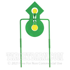 """Champion .22 Double Reaction Metal Spinner Target - 14"""" Steel Target - Green and Yellow"""