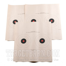 B-3/2 (P) RC Paper Targets - 50 Ft Timed & Rapid Fire Pistol - Red - 100 Count