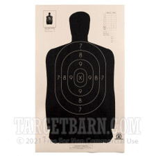 B-34 Paper Targets - 25 Yd Police Silhouette - 100 Count