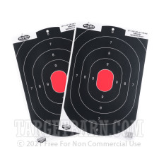 Birchwood Casey Splatter Targets - 100 Dirty Bird Targets - B-24 Silhouette