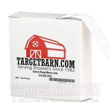 """White Target Pasters - 1000 Count - 7/8"""" Boxed Square Adhesive Pasters"""