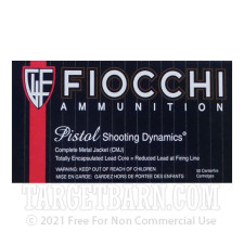 Fiocchi Shooting Dynamics 45 ACP Ammunition - 500 Rounds of 230 Grain CMJ