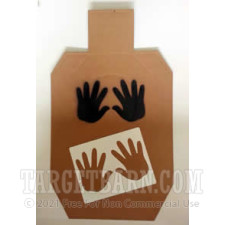 "IDPA No Shoot Target - ""Hands"" Stencil"