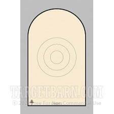 NRA D-1-T Paper Targets - GSSF Heavy Paper - 200 Count