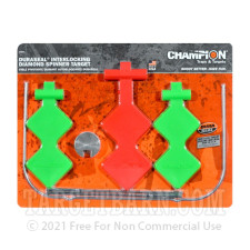 DuraSeal Interlocking Double Diamond Targets - Spinning / Self-Healing Target Stand - Red/Green - Champion - 1 Setup