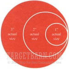 """Red Target Pasters - 125 Count - 3"""" Boxed Round Adhesive Pasters"""