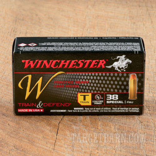 Winchester Train & Defend 38 Special Ammunition - 500 Rounds of 130 Grain  FMJ
