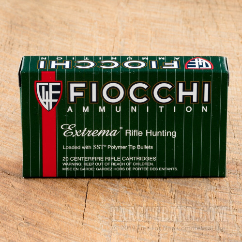 Fiocchi Extrema 308 Winchester Ammunition - 20 Rounds of 150 Grain SST  Polymer Tip