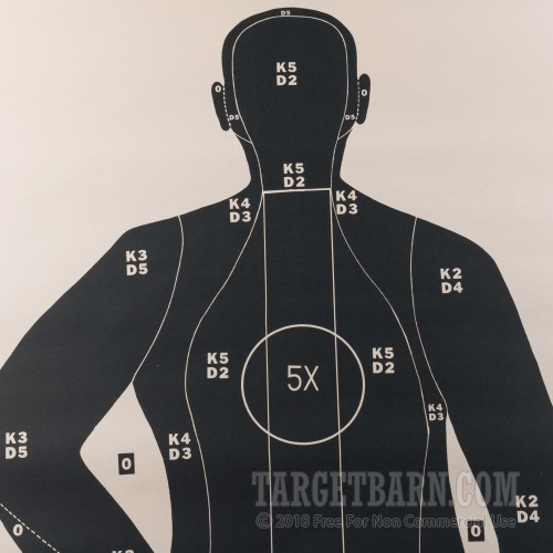 B 21 Police Shooting Targets 50-Foot Silhoue...