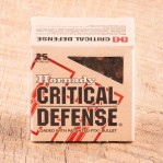 Hornady Critical Defense 38 Special Ammunition - 250 Rounds of 110 Grain FTX