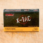 PMC X-Tac 7.62 NATO Ammunition - 20 Rounds of 147 Grain FMJ-BT