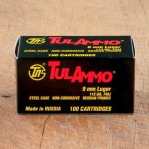 Tula 9mm Ammunition - 1000 Rounds of 115 Grain FMJ