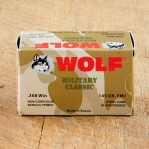 Wolf WPA Military Classic 308 Winchester Ammunition - 500 Rounds of 145 Grain FMJ