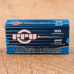 Prvi Partizan 40 S&W Ammunition - 50 Rounds of 180 Grain JHP
