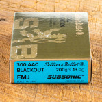 Sellier & Bellot Subsonic 300 AAC Blackout Ammunition - 500 Rounds of 200 Grain FMJ