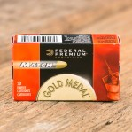 Federal Gold Medal Match 22 LR Ammunition - 50 Rounds of 40 Grain Solid