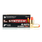 Federal Syntech Action Pistol 45 ACP Ammunition - 500 Rounds of 220 Grain Total Synthetic Jacket FN