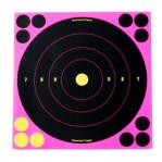 """Birchwood Casey Splatter Targets - 6 Shoot-N-C Targets - 8"""" Bullseye - Pink"""