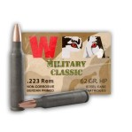 Wolf WPA Military Classic 223 Remington Ammunition - 500 Rounds of 62 Grain HP