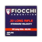 Fiocchi 22 LR Ammunition - 500 Rounds of 40 Grain LRN