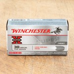 Winchester Super-X 38 Special Ammunition - 50 Rounds of 158 Grain LRN