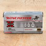 Winchester Super-X 45 ACP Ammunition - 50 Rounds of 230 Grain Winclean
