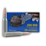 Silver Bear 308 Winchester Ammunition - 20 Rounds of 145 Grain FMJ