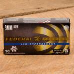 Federal Premium Law Enforcement 9mm Luger Ammunition - 50 Rounds of 124 Grain HST HP