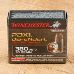 Winchester Bonded PDX1 Defender 380 ACP Ammunition - 200 Rounds of 95 Grain JHP