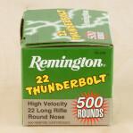 Remington 22 Thunderbolt 22 LR Ammunition - 500 Rounds of 40 Grain LRN